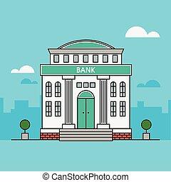 Bank. Finance illustration. Building Illustration. Flat...