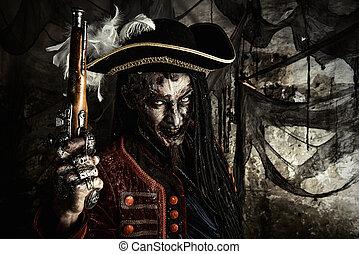 brave dead pirate - Portrait of a noble brave dead pirate....