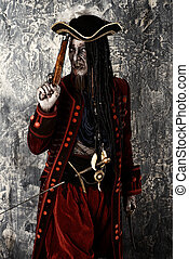 costume of a pirate - Portrait of a noble brave dead pirate....