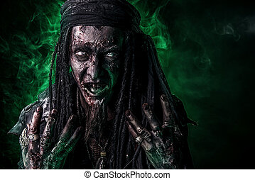 green light zombie - Fantasy pirate, risen from the dead....