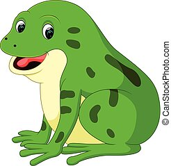 Cute frog cartoon - illustration of Cute frog cartoon