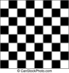 Chess table almost classic abstract black and white...
