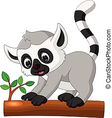 cute lemur cartoon - illlustration of cute lemur cartoon