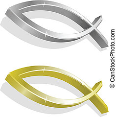 Vector illustration of golden and s - Vector illustration of...