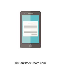 Flat tablet PC on a white background. Vector  isolated.