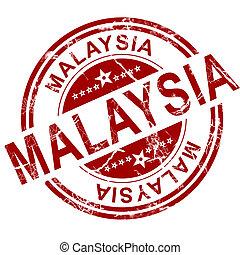 stämpel,  malaysia, röd