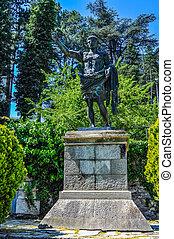 HDR Caesar Augustus statue in Susa - High dynamic range...