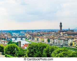 HDR Florence Italy - High dynamic range (HDR) View of the...