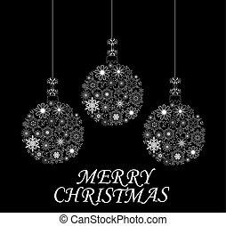 Christmas Balls - vector Christmas balls