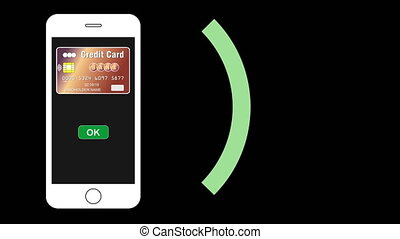 Smartphone and credit card contactless payment - Smartphone...