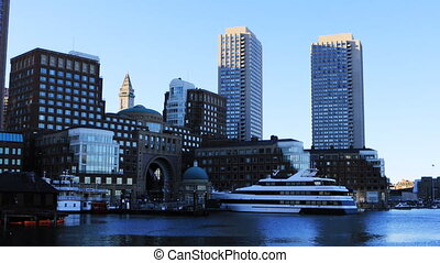 View of the Boston city center