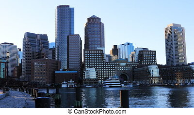 View of the Boston skyline - A View of the Boston skyline