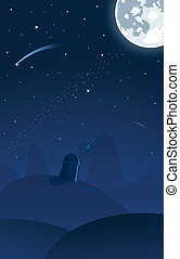Vector illustration of observatory - Vector illustration of...