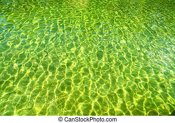 in natual pool - in colors abstract texture of a water in a...
