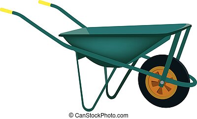 metal wheelbarrow for transporting material