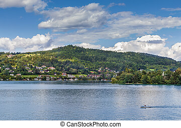 View of the Worthersee lake, Carinthia, Austria - Landscape...