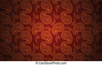 Vector seamless paisley wallpaper - Vector seamless paisley...