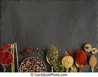 Spices - A variation of spices with copy space
