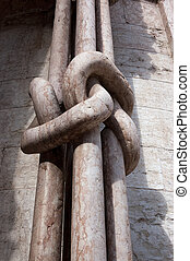 Marble Columns Knotted - Trento Cathedral Italy - Four...