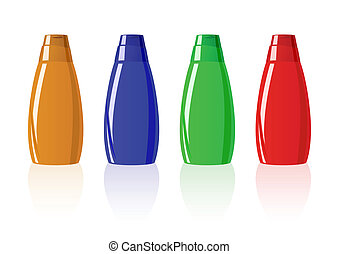 Vector illustration of shampoo
