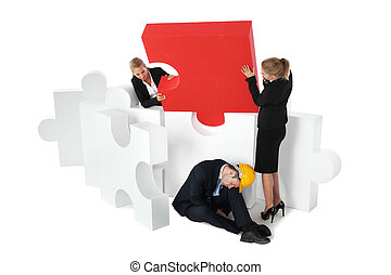 Saving businessman from problems