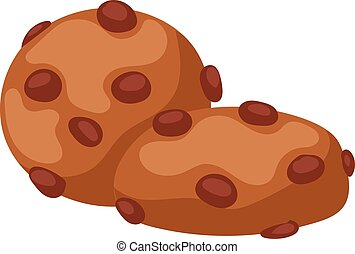 Cookie biscuit isolated - Sweet Cookie biscuit isolated on...
