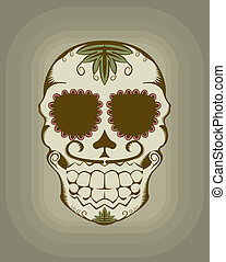 Vector illustration of sugar skull - Vector illustration of...
