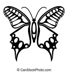 Fluttering butterfly icon, simple style - Fluttering...