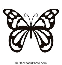Spotted butterfly icon, simple style - Spotted butterfly...