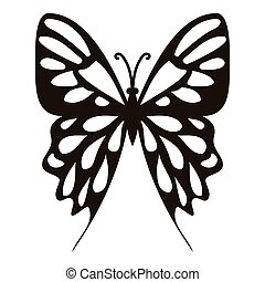 Collection butterfly icon, simple style - Collection...