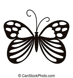 Beautiful butterfly icon, simple style - Beautiful butterfly...