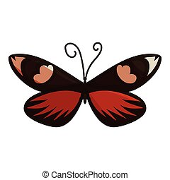 Dark butterfly icon, cartoon style - Dark butterfly icon....