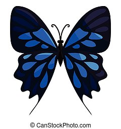 Big butterfly icon, cartoon style - Big butterfly icon....
