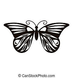 Summer butterfly icon, simple style - Summer butterfly icon....