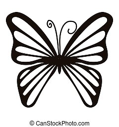 Rare butterfly icon, simple style - Rare butterfly icon....
