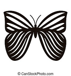 Megaloptera butterfly icon, simple style - Megaloptera...