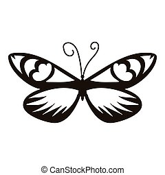 Air butterfly icon, simple style - Air butterfly icon....