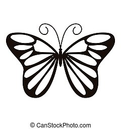 Day butterfly icon, simple style - Day butterfly icon....