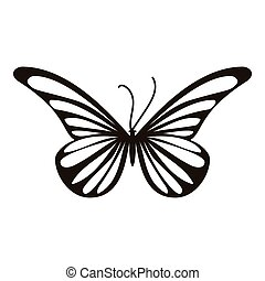 Moth butterfly icon, simple style - Moth butterfly icon....