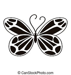 Night butterfly icon, simple style - Night butterfly icon....