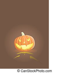 Vector evil pumpkin - Vector illustration of an evil pumpkin...