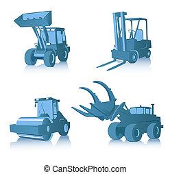 Vector set of industrial machines