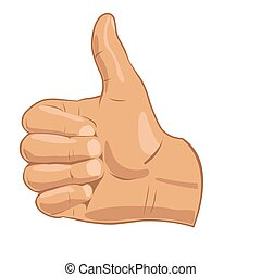 Vector illustration thumbs up