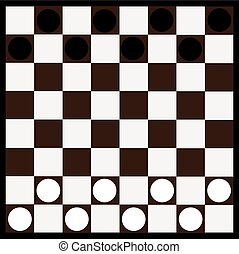 Chessboard and checkers,chessboard