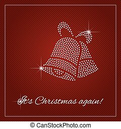 Rhinestone Christmas Template - Christmas greeting card,...