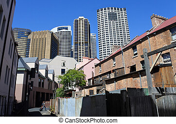 Urban landscape of The Rocks in Sydney Australia - SYDNEY,...