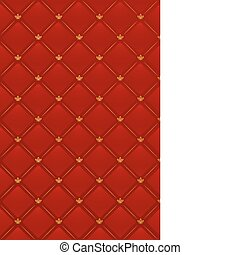 Vector illustration of red leather