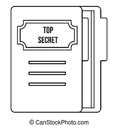 Notepad icon, outline style - Notepad icon. Outline...