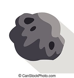Asteroid icon, flat style - Asteroid icon. Flat illustration...