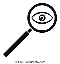 Magnifying glass icon, simple style - Magnifying glass icon....